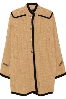 Marc by Marc Jacobs|Cable-knit wool-blend cape|NET-A-PORTER.COM - StyleSays