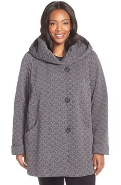 Free shipping and returns on Gallery Hooded Jacquard Fleece Topper (Plus Size) at Nordstrom.com. Geometric jacquard brings cool texture to a cozy fleece jacket topped with a roomy hood and cut for a slightly oversized fit. Raglan sleeves enhance the easy movement.
