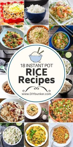 Instant Pot Rice Recipes That'll Fill You up on a Budget These instant pot rice recipes are a great way to get food on the table for an easy and quick dinner! Best Instant Pot Recipe, Instant Recipes, Instant Pot Dinner Recipes, Instant Pot Pressure Cooker, Pressure Cooker Recipes, Pressure Cooking, Crockpot Recipes, Cooking Recipes, Be Light