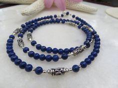 Lapis Necklace Lapis Lazuli Necklace Bali Necklace by Inspiredby10, $83.00