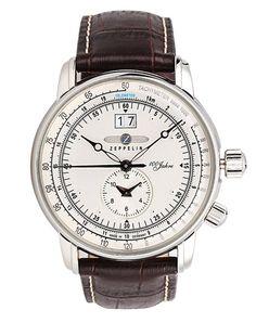 Graf Zeppelin Dual Time Big Date 100 Years of Zeppelin Watch 7640-1