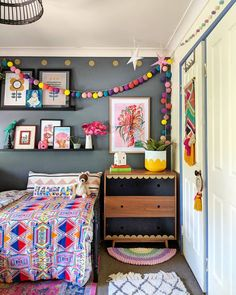 Children are great imitators, so give them something great to imitate. Paint colour is called Fossil Creek by Solver. Girls Bedroom, Bedroom Decor, Bedroom Ideas, Toddler Rooms, Kids Room Design, Decorate Your Room, Little Girl Rooms, New Room, Room Inspiration