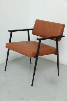Louis Sognot, Enameled Metal Armchair, 1940s.
