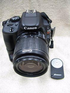 Canon EOS Rebel SL1 Digital SLR Camera  Black (Kit w/ EF-S 18-55mm Lens)