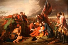 The Death of Wolfe on the Plains of Abraham fighting the French forces under Montcalm. I took a photo of this at the national Art Museum without realize it's not allowed.