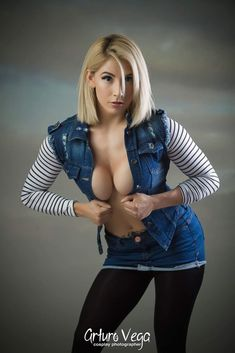 Android 18 from Dragon Ball Z by Gaby Mendoza @ instagram.com/gaby_barbie_fit/ #gabymendonza #gaby #barbie #fit #queen #hot #sexy #cosplay #girl #cosplaygirl #android18 #dbz #dragonballz