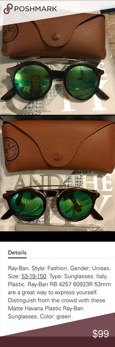 Ray ban sunglasses gatsby green new in box!! Gatsby green ray ban sunglasses new in box unisex!!! Ray-Ban Accessories Glasses
