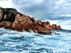 Corsica's rocky shore. -HauteTravelBlog.tumblr.com