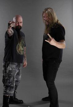 Johan Hegg ( Amon Amarth ) with Kerry King ( Slayer )