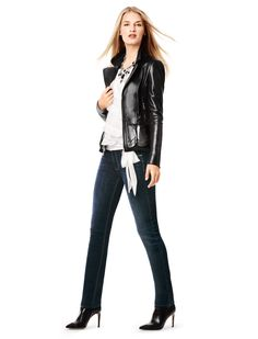 The slim leg jean is back in a big way.  #whbm #goodjeans #fall absolutely dying for this. Please, anyone? Anyone?