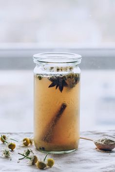 Cold Healing Elixir with Chamomile Infused Apple Cider Vinegar