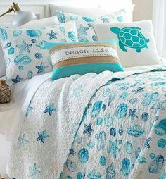 Turquoise colors in bedding