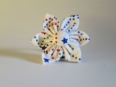 4th of July Dog Collar Flower by BellieBoop on Etsy, $7.00