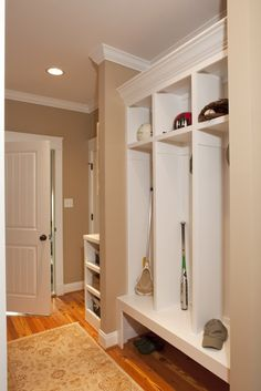 Mudroom: in my dreams I will have a mudroom, and people will not track dirt on their shoes through my house!