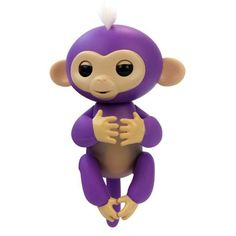 Electronic & Interactive Electronic, Battery & Wind-up pink Fingerling W/ Yellow Hair Sweet-Tempered Authentic Wowwee Fingerlings Baby Monkey Bella