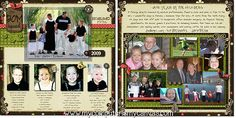 Love this idea - instead of gifts, the siblings exchange a 2-page scrapbook layout of their family. Each family ends up with a beautiful family photo album.