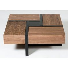 Lipscomb Makai coffee table with storage - Couchtisch Quadratisch - Wood Coffee Table Stylish Coffee Table, Diy Coffee Table, Coffee Table With Storage, Coffee Table Design, Modern Coffee Tables, Modern Table, Coffee Mugs, Wood Table Design, Coffee Gifts