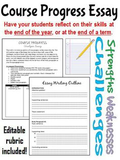 Looking for an end of year writing activity? This assignment allows students to complete an analysis of their progress in a course thus far. Students will analyze some of the things that they have done well, some of the challenges they may have encountered, and some things they know they can improve on.