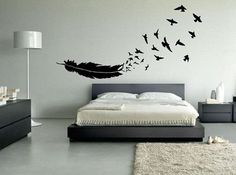 Birds of a Feather Wall Decal or Car Decal - 45+ Beautiful Wall Decals Ideas