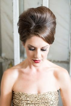 Chic updo | Mikkel Paige Photography and Moana Events | see more on: http://burnettsboards.com/2015/05/industrial-glam-wedding/