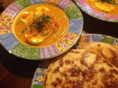 [Homemade] South Indian Egg Curry with homemade Naan. http://ift.tt/2m01I4i #TimBeta