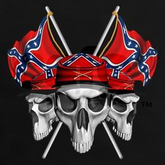 Confederate Flag and Skulls - Bing Images Southern Heritage, Southern Pride, Southern Style, Rebel Flag Tattoos, Patriotic Pictures, Skull Pictures, Skull Artwork, Redneck Girl, Tattoo Ideas