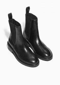 & Other Stories   Leather Chelsea Boots
