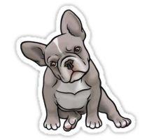 Grey Frenchie Sticker