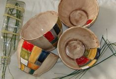 cuencos de cerámica artesanal Slab Pottery, Pottery Mugs, Pottery Bowls, Ceramic Pottery, Ceramic Birds, Ceramic Clay, Pottery Painting, Ceramic Painting, Grands Pots