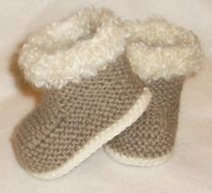 knitted baby booties free patterns - Google Search                                                                                                                                                                                 More