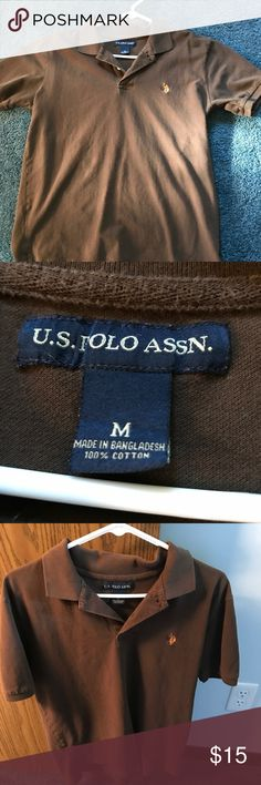 Brown Men's Shirt US Polo Shirt Brown US Polo Shirt.  For Men's in very condition, size Medium Shirts Polos
