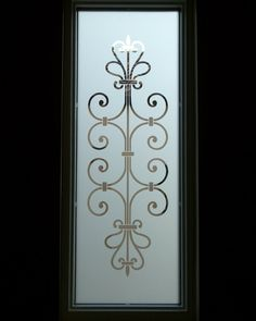 Decorative Floral Glass Shower Door Glass Entry Window Ironwork Design Lovely Lovely Lovely For My Shower
