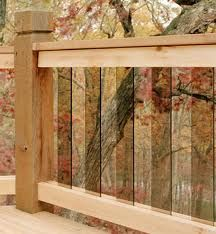 Glass Railings - Enjoy the View with Glass Deck Railings. Horizontal Deck Railing, Wood Deck Railing, Deck Railing Design, Glass Railing, Deck Design, Railing Ideas, Balcony Design, House Design, Cool Deck