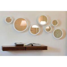 stars diseo de colzani para porada espejos redondos con marco y soporte de metal