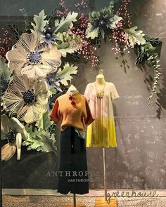 Anthropologie Window Quilling - Burlington, MassachusettsYou can find Window displays and more on our website. Spring Window Display, Fashion Window Display, Window Display Retail, Window Display Design, Retail Displays, Shop Displays, Boutique Window Displays, Christmas Window Display, Visual Merchandising Displays