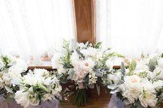 Beautiful Ivory Wedding Bouquet  Brantford Blooms Florist Ivory Wedding, Our Wedding, Blooms Florist, Wedding Bouquets, Floral Wreath, Wreaths, Table Decorations, Weddings, Beautiful