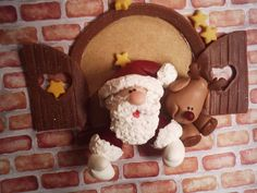 This would be cute to make out of clay for an ornament -- or out of fondant on side of a Christmas cake