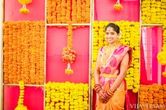 South Indian bride. Kanchipuram silk sari. Hindu bride.