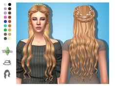Lucrezia by tekri Sims 4 CC Sims 4 Cc Packs, Sims 4 Mm Cc, Sims Medieval, Medieval Hairstyles, The Sims 4 Cabelos, Rainbow Wig, Pelo Sims, Sims 4 Dresses, Sims Hair