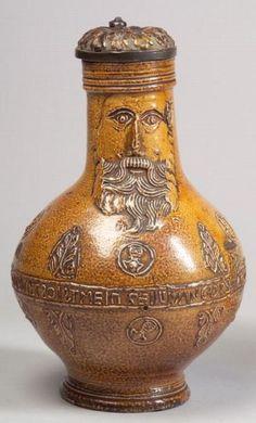 Glazed Frechen-type Stoneware Bartmann Krug | Sale Number 2326, Lot Number 563 | Skinner Auctioneers