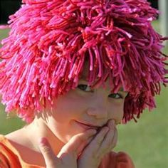 yarn wig...Never know when you might need to make this for a costume or something.