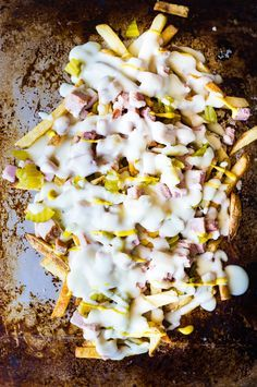 Crispy french fries loaded with all the flavors of a Cuban sandwich and topped with a creamy swiss cheese sauce!  The ULTIMATE appetizer or snack recipe!  A definite crowd pleaser! Cuban Fries!! Y'all know that the Cuban Sliders are one of the most popular recipes on this little site of mine.  So it got me...Read More »