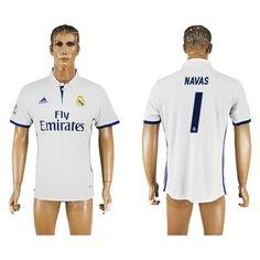 Real Madrid 16-17 Navas 1 Hjemmebanetrøje Kortærmet.  http://www.fodboldsports.com/real-madrid-16-17-navas-1-hjemmebanetroje-kortermet.  #fodboldtrøjer
