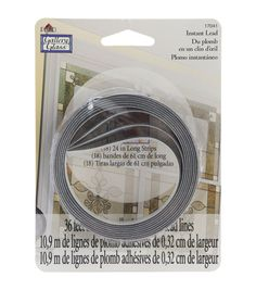 "Gallery Glass Instant Lead Lines 24"" 8/Pkg-Black 1/8"" Thick"