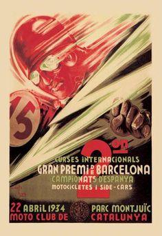 2nd International Barcelona Grand Prix 12x18 Giclee on canvas