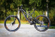 An awesome downhill mountain bike.