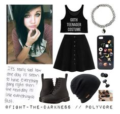 """PRP #58 - Going Home."" by fight-the-darkness ❤ liked on Polyvore featuring Calvin Klein Underwear, WithChic, Dr. Martens, Coal, women's clothing, women's fashion, women, female, woman and misses"