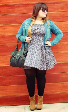 look casual curvy girl, plus size