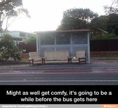 Comfy bus stop