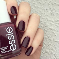 "essie ""shearling darling"" - dark brown-y red #nail polish / lacquer, very sexy + perfect for fall"